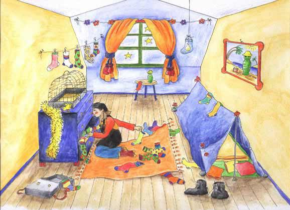 Karlotta räumt ihr Zimmer auf!